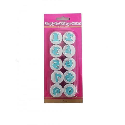 Simply Push Number Mini Plunger Cutters