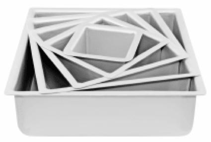 SQUARE 4in (10cm) x 4in high Mondo Pro Deep Cake Tin