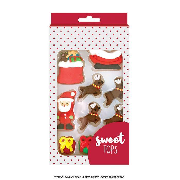 SWEET TOPS CHRISTMAS ICING DECORATIONS 12 PIECES