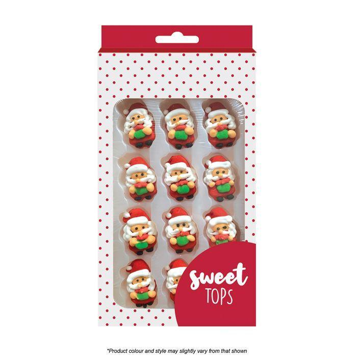 SWEET TOPS SANTA ICING DECORATIONS 12 PIECES
