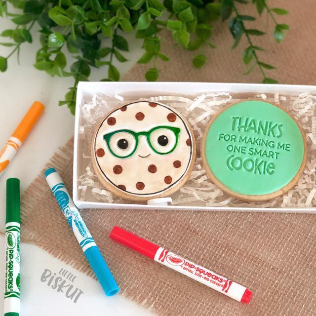 THANKS FOR MAKING ME ONE SMART COOKIE EMBOSSER 60MM by Little Biskut