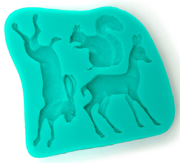 Silicone Mould WOODLAND ANIMALS