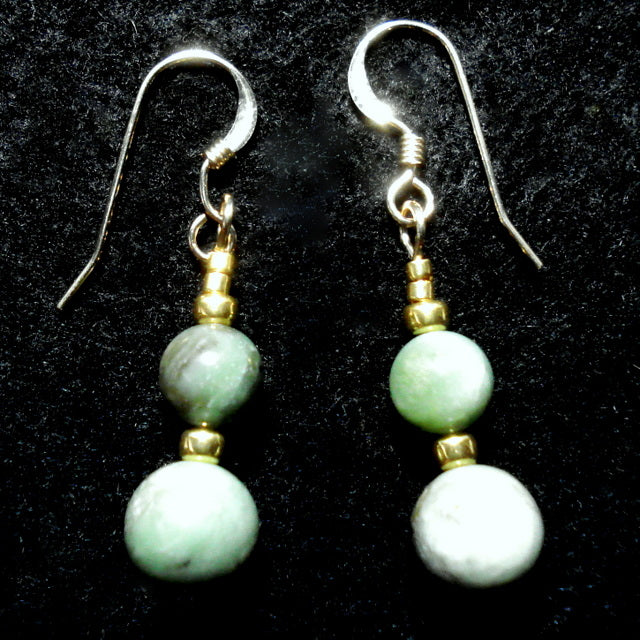 BUTTONGRASS JADE® EARRINGS. Tasmania. (J175)