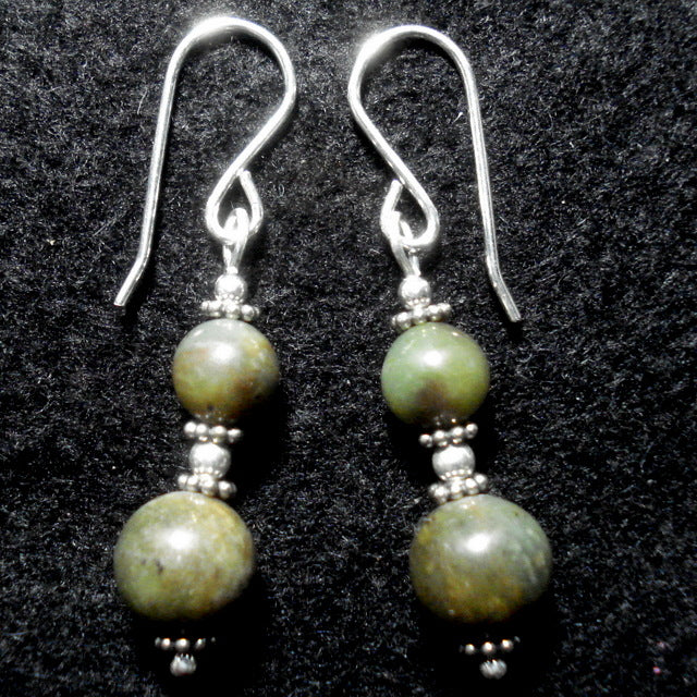 BUTTONGRASS JADE® EARRINGS. Tasmania. (J177)