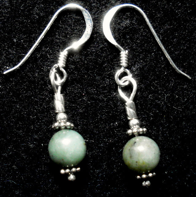 BUTTONGRASS JADE® EARRINGS. Tasmania. (J178)