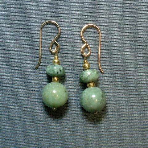 BUTTONGRASS JADE® EARRINGS. Tasmania. (J252)
