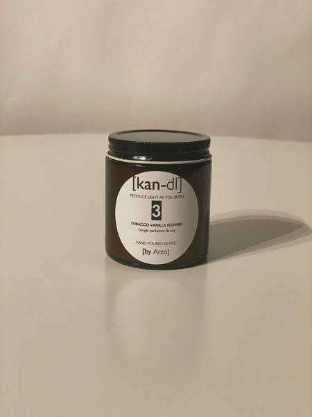 3 TOBACCO VANILLA FLOWER SOY CANDLE