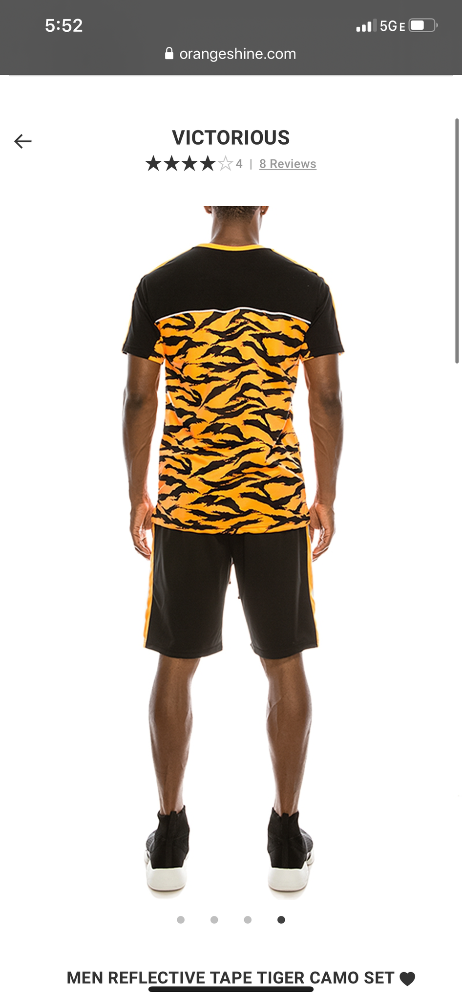ORANGE TIGER | REFLECTIVE STIPE (TOP ONLY)