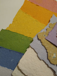 Handmade Recycled Paper Pack - mini