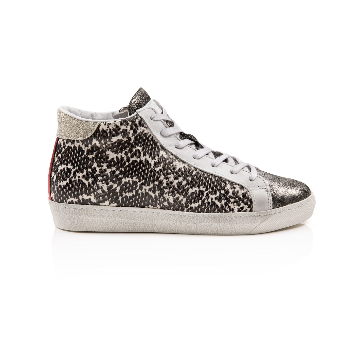 ALTO: PEWTER MULTI HIGH TOP TRAINERS