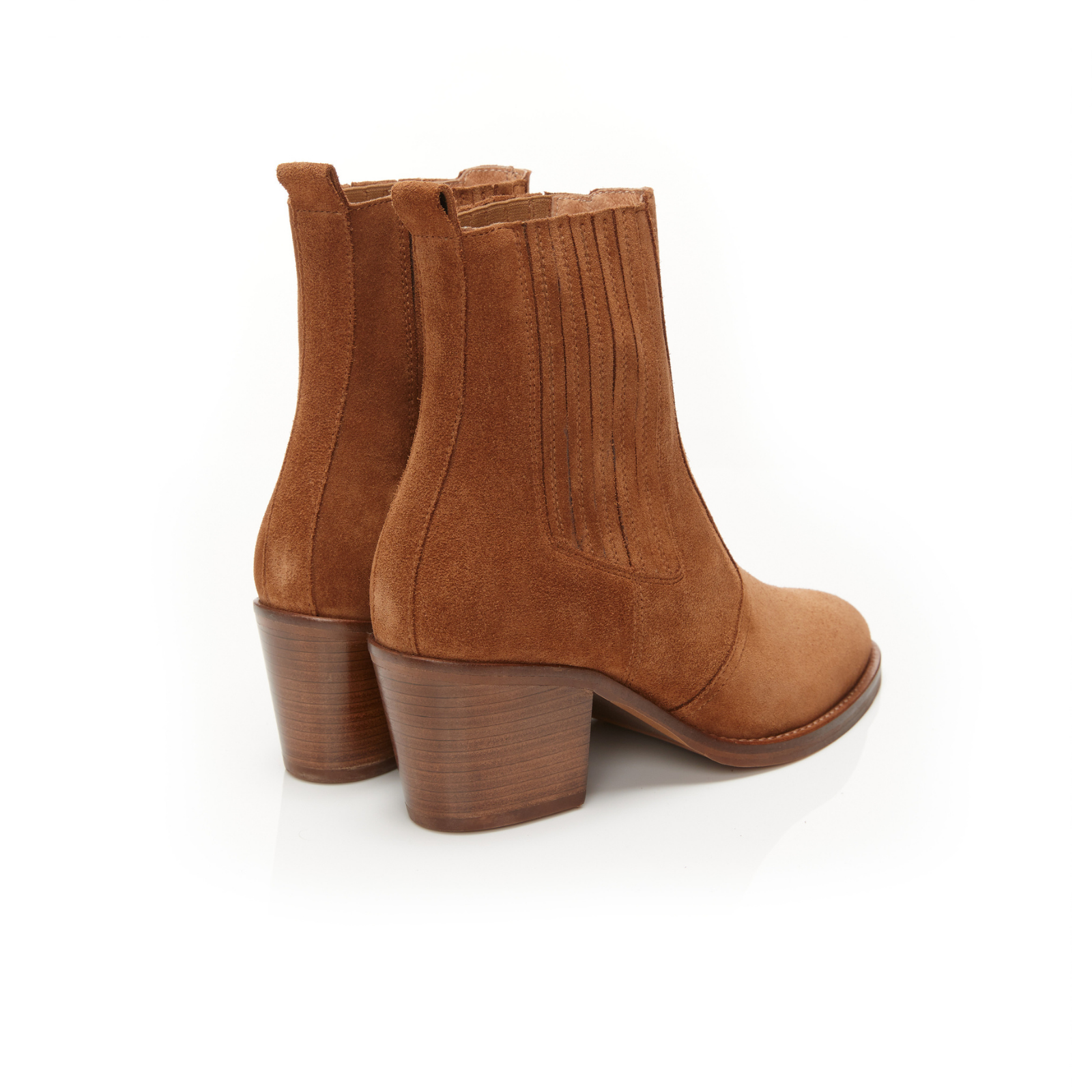 BARDOT: TAN SUEDE ANKLE BOOTS