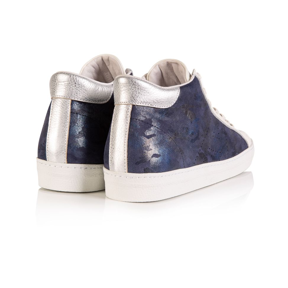 ALTO: NAVY CAMO HIGH TOP TRAINER