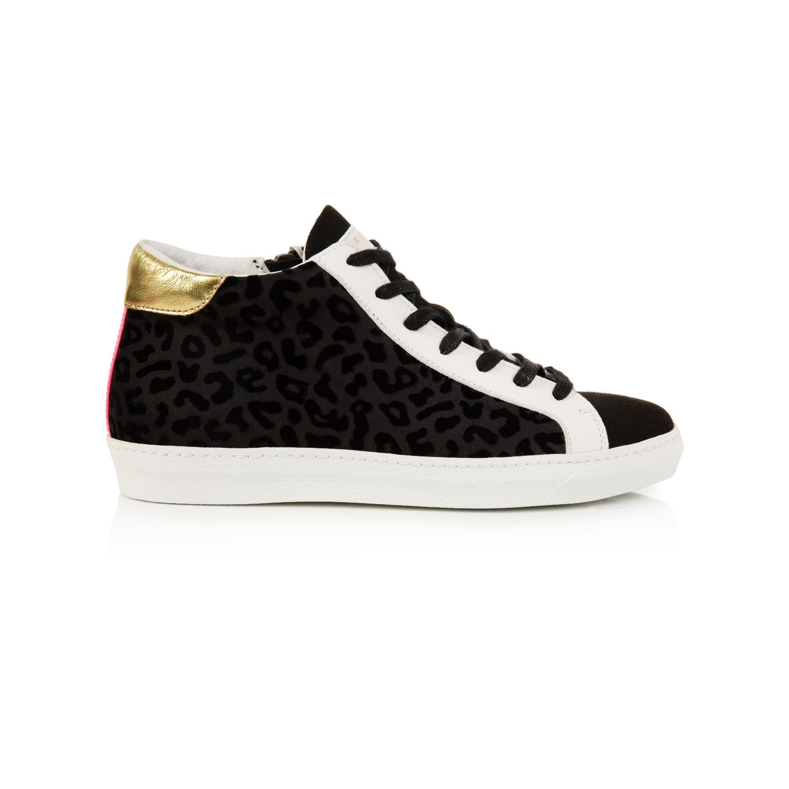 ALTO: BLACK LEOPARD HIGH TOP TRAINERS - Pre-Order (dispatch w/c 2nd November)