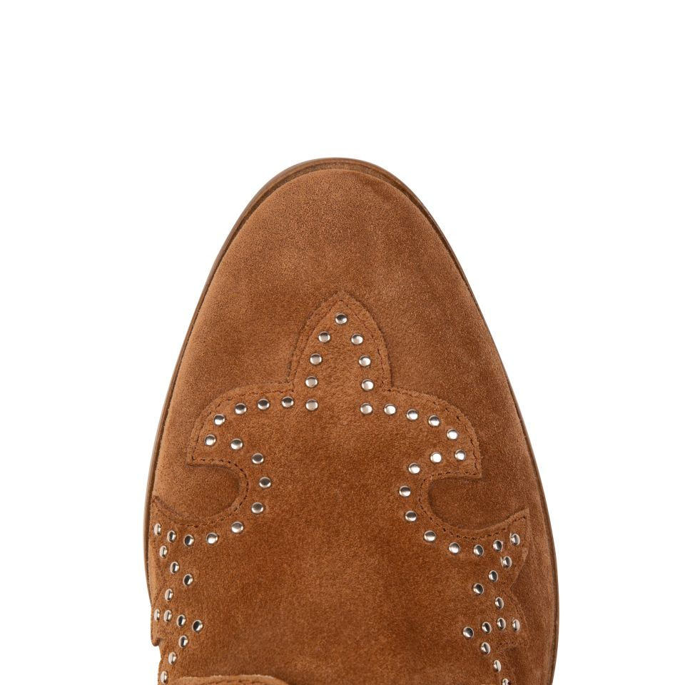 STARLIGHT: TAN SUEDE ANKLE BOOTS