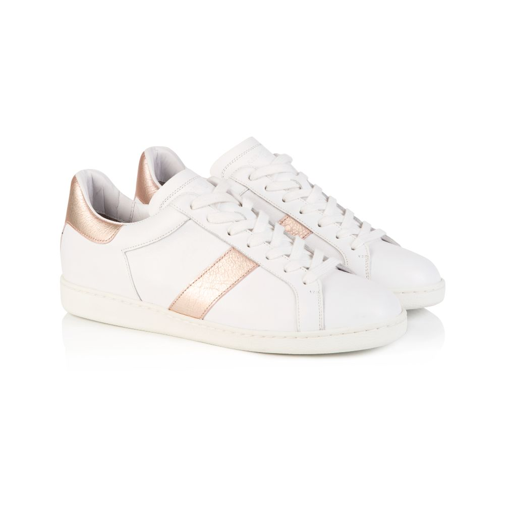 COPELAND: WHITE & ROSE GOLD TRAINERS