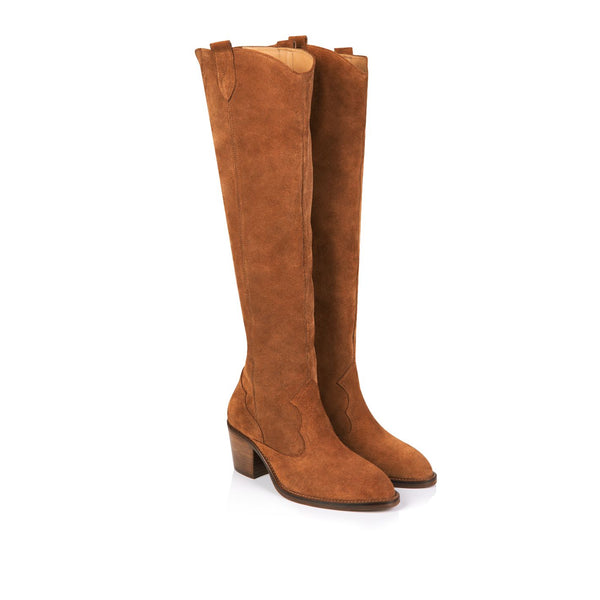 Tan Suede Knee High Boots from Air \u0026 Grace