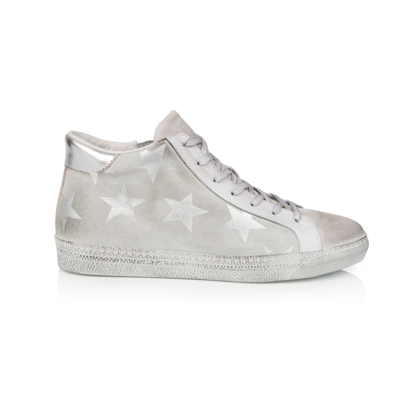 ALTO: WHITE STAR LEATHER HIGH TOP TRAINER