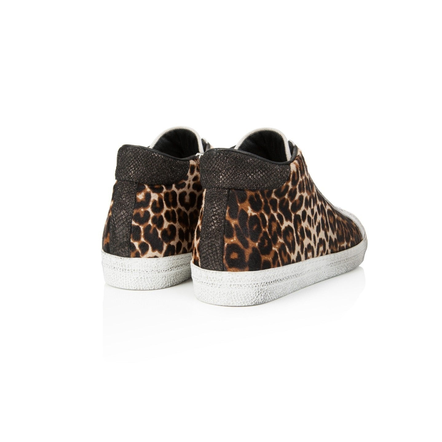 ALTO: LEOPARD PRINT LEATHER HIGH TOP TRAINER