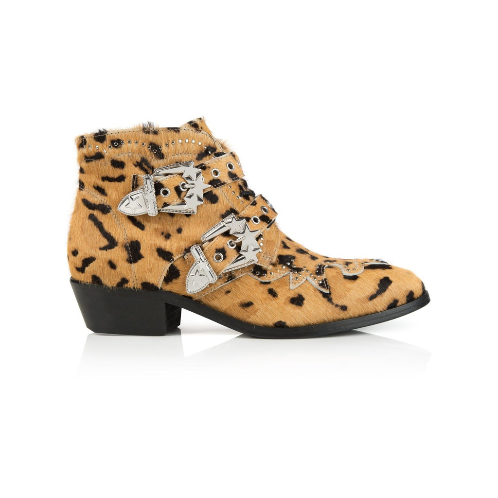 STARLIGHT: LEOPARD PRINT ANKLE BOOTS