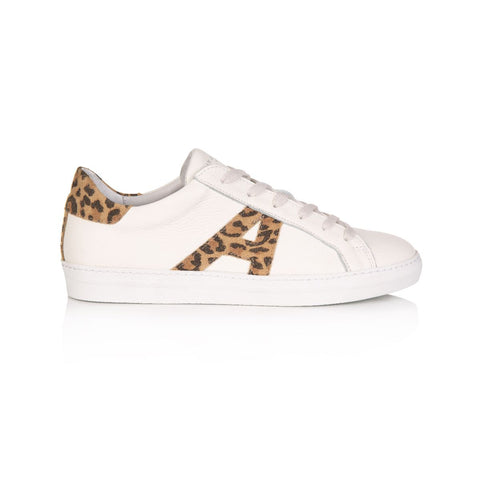 CRU SIGNATURE: WHITE & LEOPARD PRINT TRAINERS Pre-Order (Dispatch W/C 18th November)