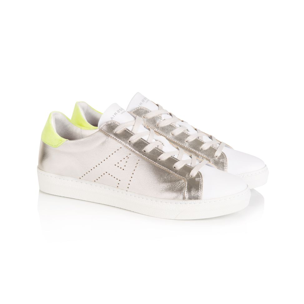 CRU SIGNATURE: SILVER & NEON YELLOW TRAINER