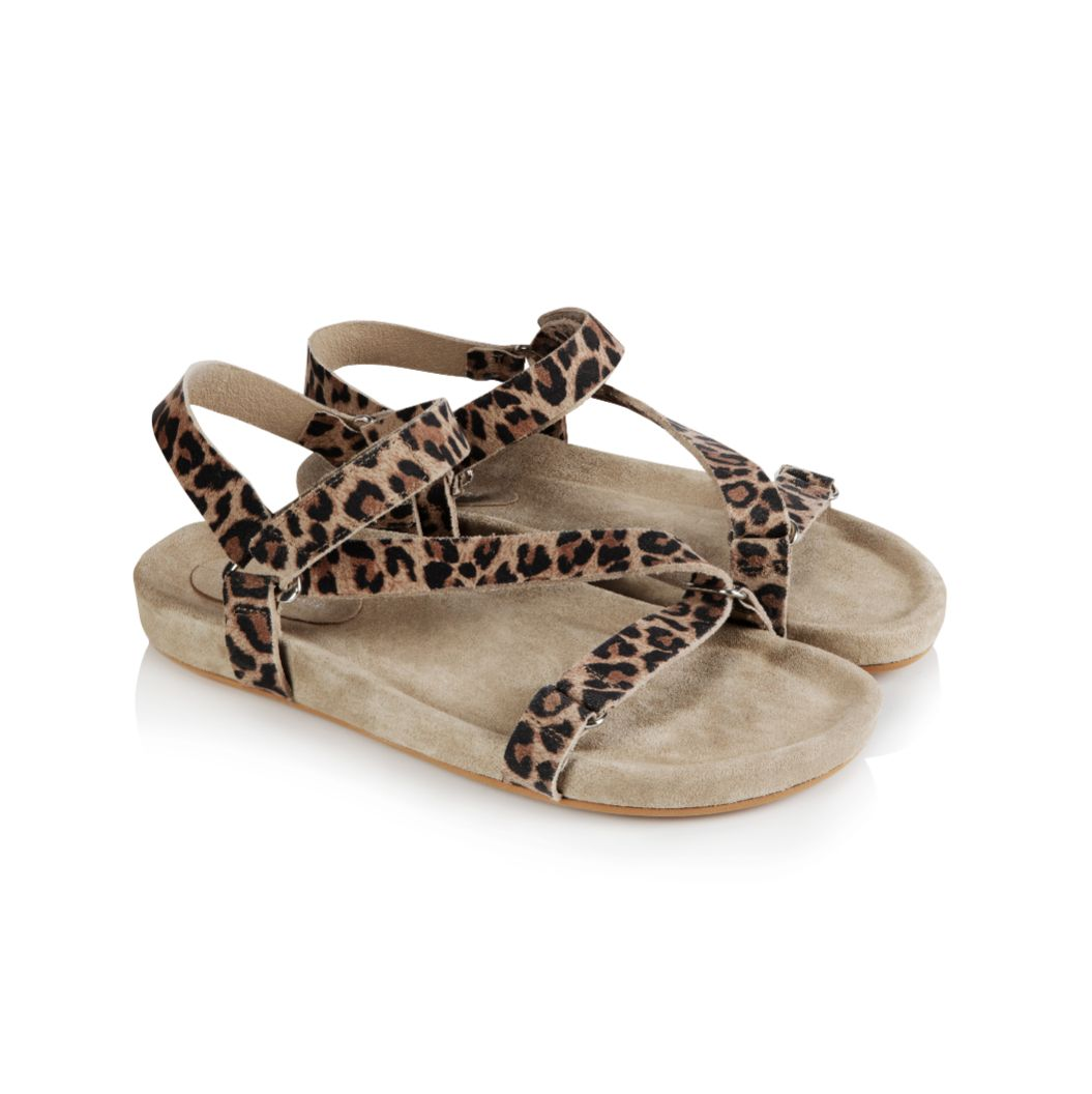 LENA: LEOPARD PRINT SUEDE SANDALS - COMING SOON