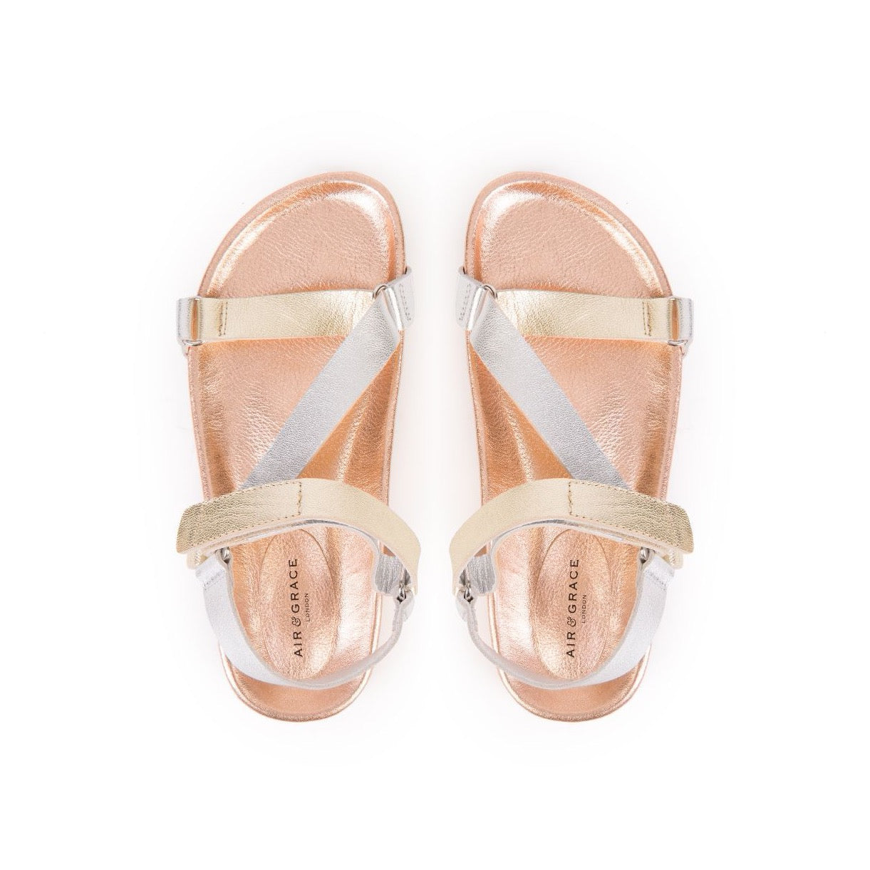 LENA: GOLD MULTI METALLIC SANDALS