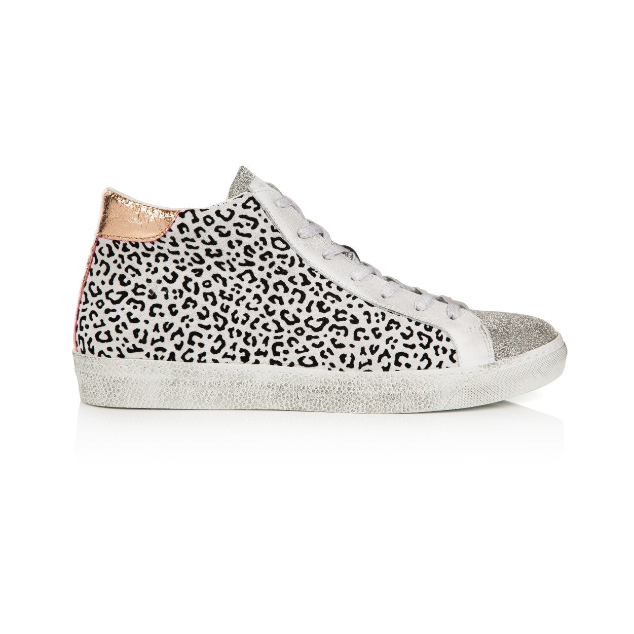 ALTO: MINI CHEETAH PRINT HIGH TOP TRAINER