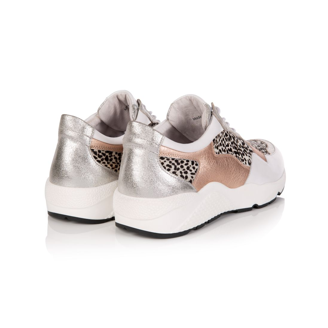 COSMIC: ROSE GOLD & DOTTY PRINT TRAINERS