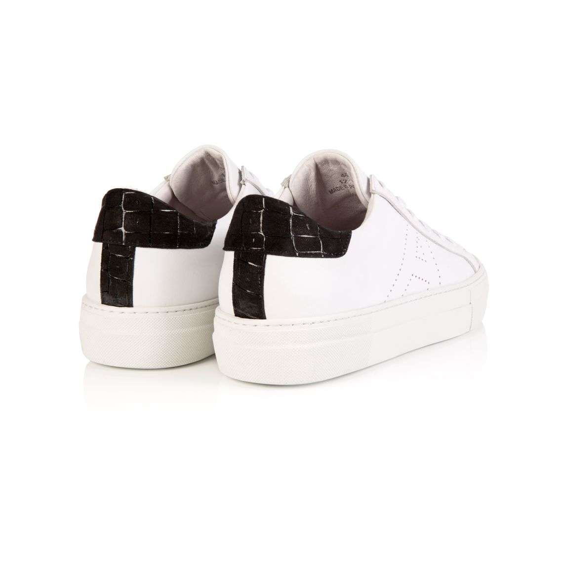 ROXY: WHITE & BLACK PLATFORM TRAINERS