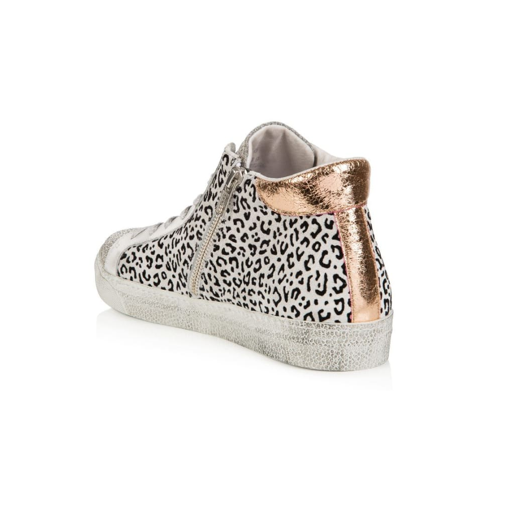 Air & Grace Alto: Mini Cheetah Print High Tops: Pre-Order For Dispatch W/c 18Th February
