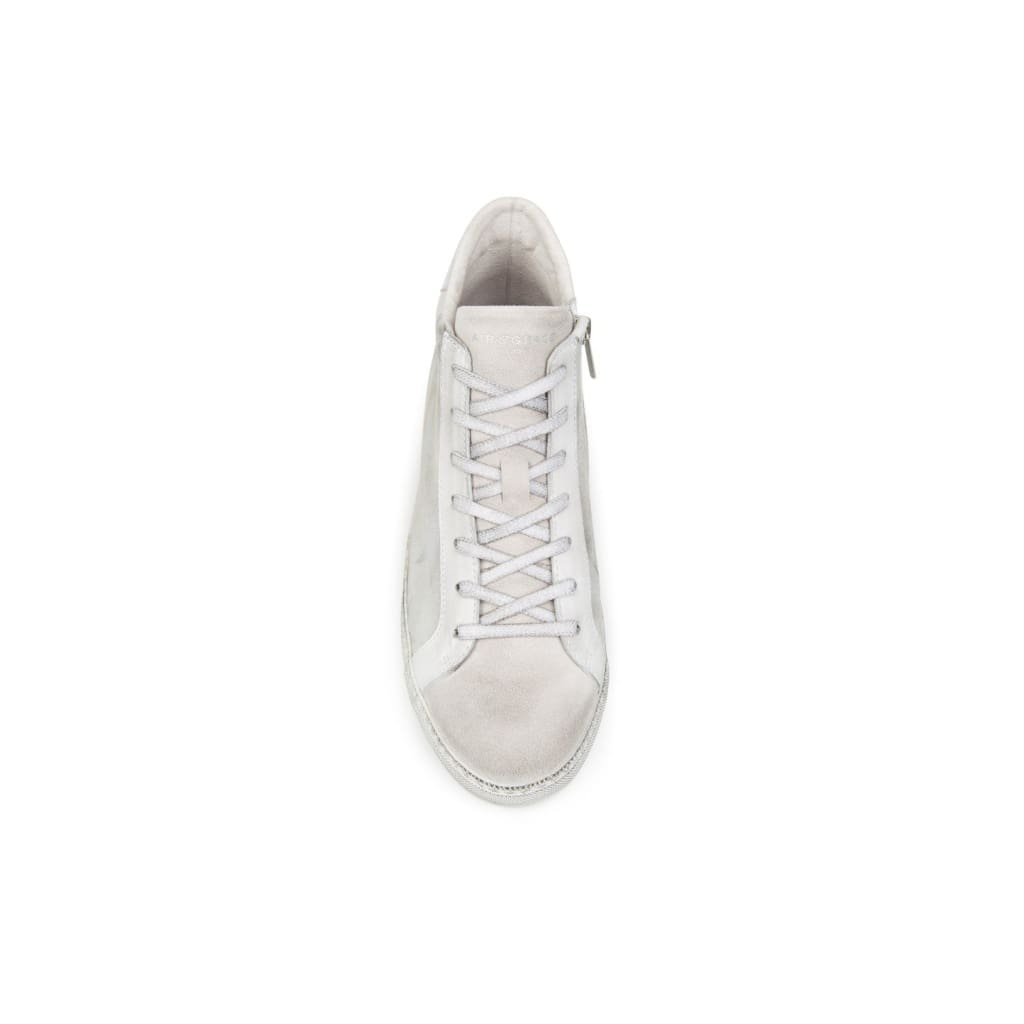 Air & Grace Alto: White Star Leather High Top Trainer