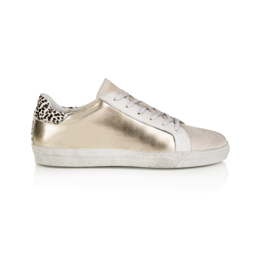 Air & Grace Cru: Platino Metallic Trainers **coming Soon**