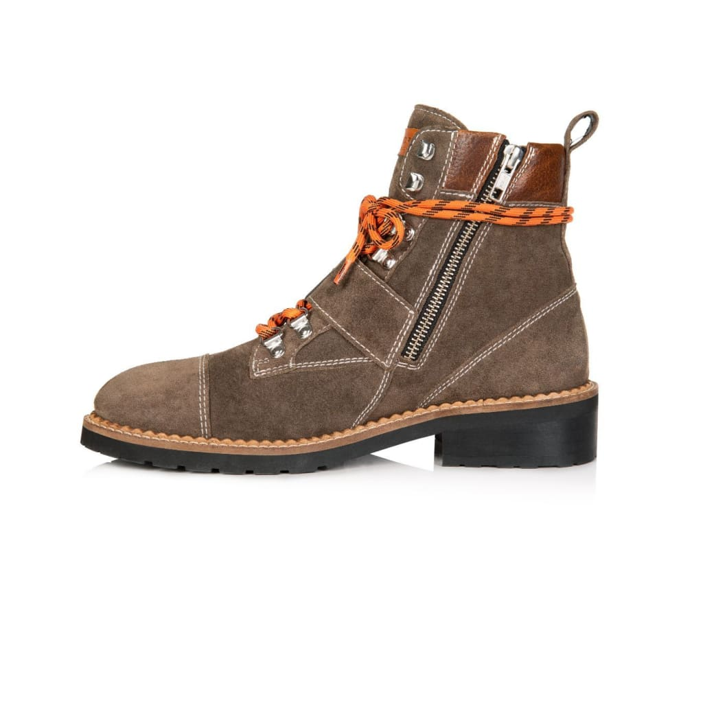 Air & Grace FREYA: SOFT BROWN SUEDE HIKER BOOTS **Coming Soon**