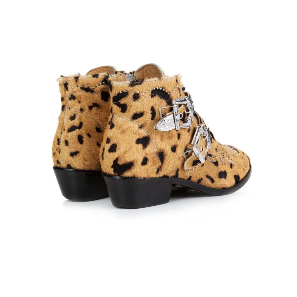 Air & Grace STARLIGHT: LEOPARD PRINT ANKLE BOOTS **Coming Soon**