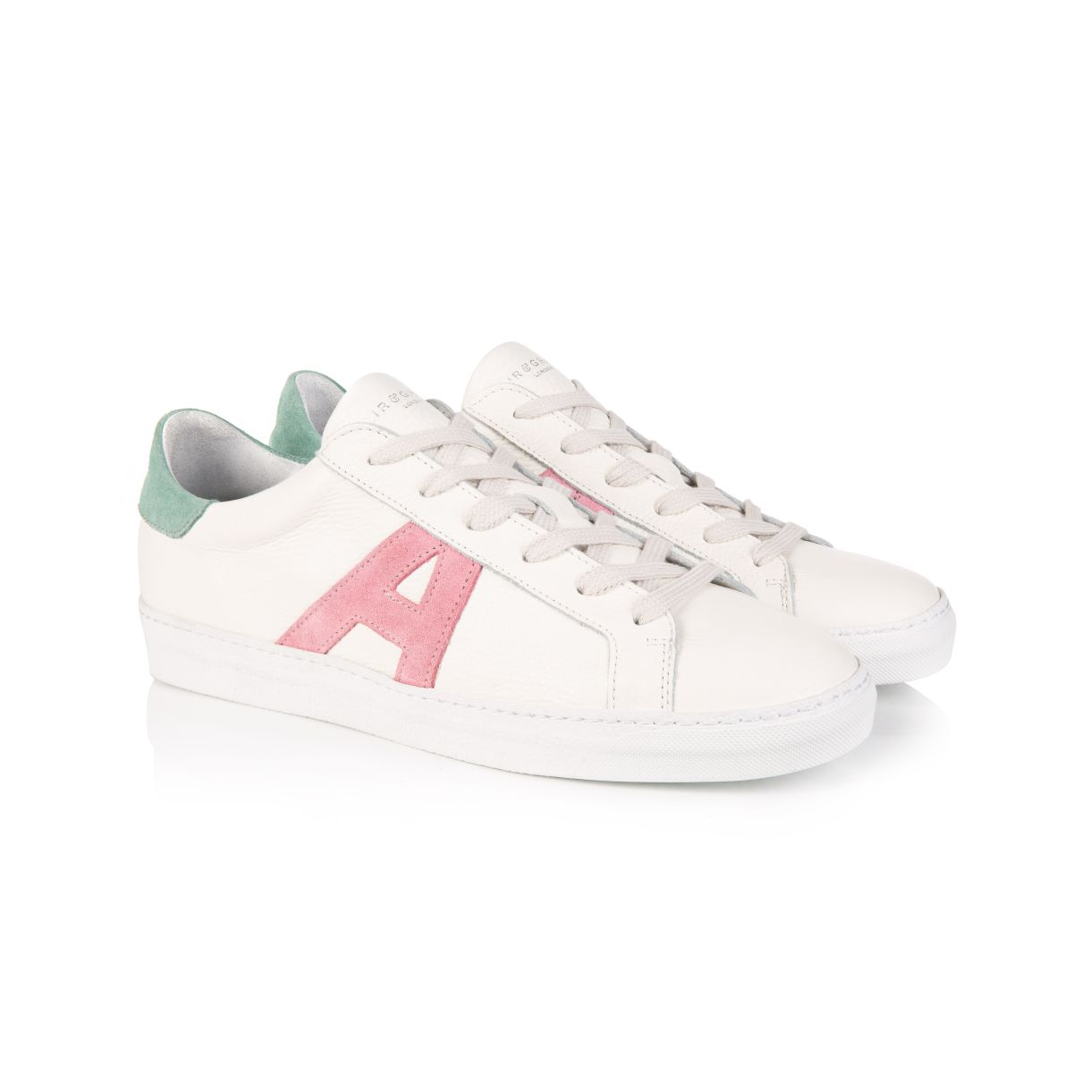 CRU SIGNATURE: WHITE & PASTEL TRAINERS: (Pre-Order -  Dispatch w/c 13th April)