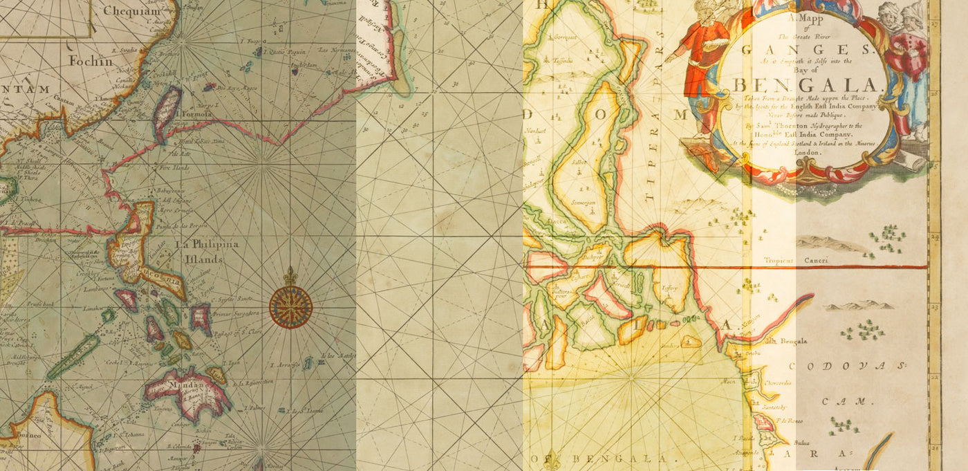 Nautical Charts of India - Circa 1700