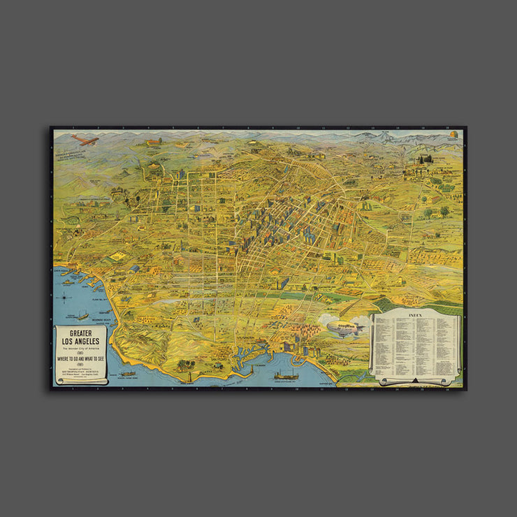 Map of Los Angeles, 1932