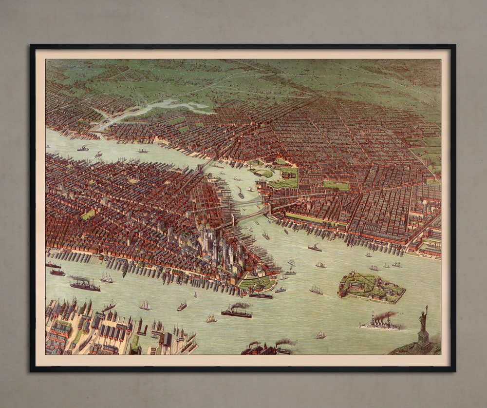 Map of New York [Two Part] [1896]