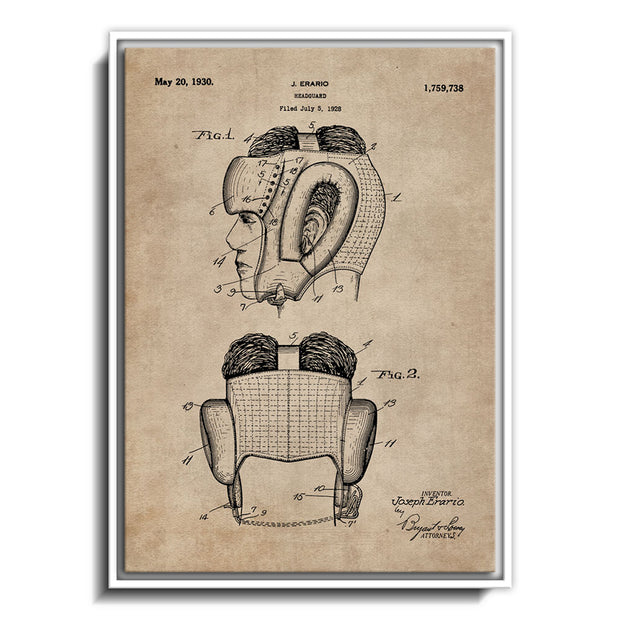 Patent Document of a Headguard for Boxers