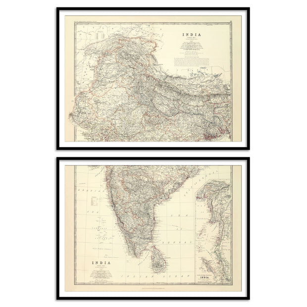 Large map of India by Keith Johnston [1861]