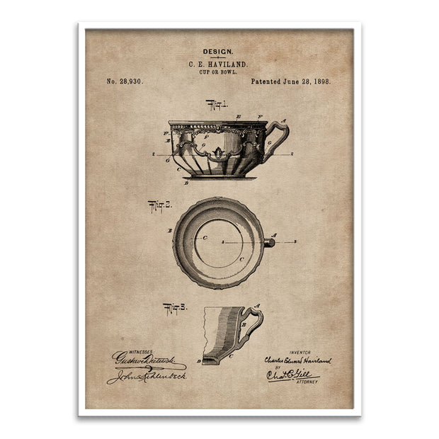 Patent Document of a Cup or Bowl
