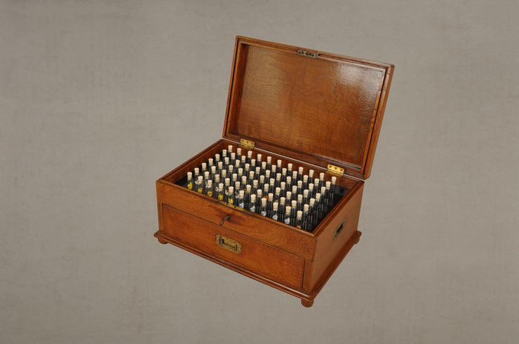 Vintage Homeopaths Chest of Vials