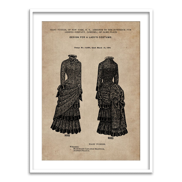 Patent Document of a Lady's Costume