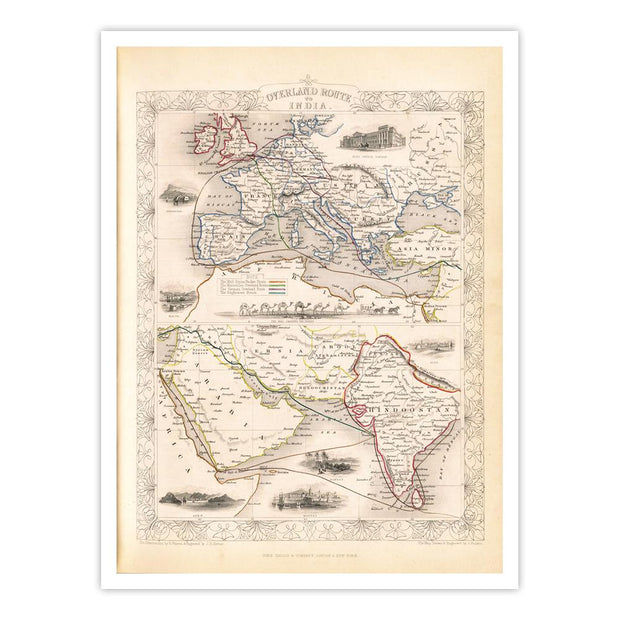 Overland Route to India [1851]