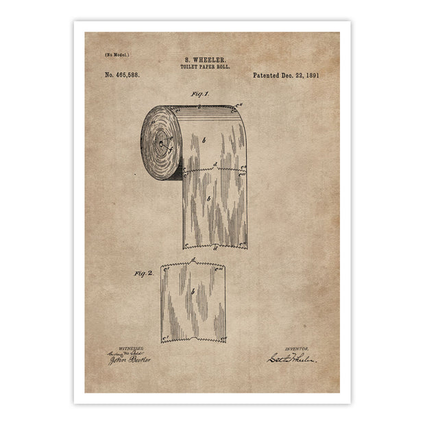 Patent Document of a Toilet Paper Roll