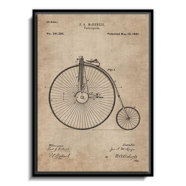 Patent Document of a Velocipede