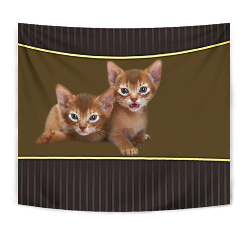Abyssinian cat Print Tapestry