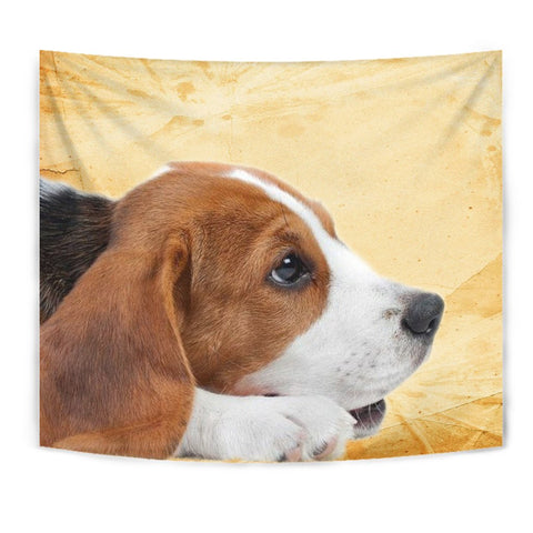 Beagle Dog Print Tapestry