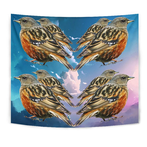 Accentor Bird Print Tapestry
